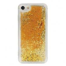 """Huawei p20 DĖKLAS """"Water Glitter"""" TPU auksinis"""