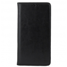 Huawei mate 20 atverčiamas dėklas BOOK SPECIAL tikra oda juodas