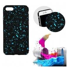 iphone x/xs dėklas nugarėlė splash tpu juodas-mėlynas