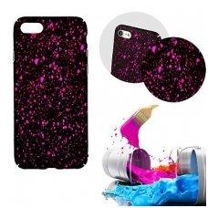 iphone x/xs dėklas nugarėlė splash tpu juodas-rožinis
