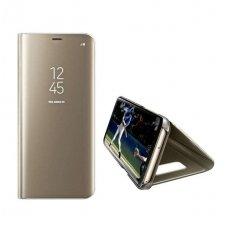 Huawei P30 pro ATVERČIAMAS DĖKLAS CLEAR VIEW VEIDRODINIU-PERMATOMU DANGTELIU auksinis