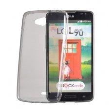 nokia 535 dėklas Silikoninis Ultra Slim 0,3mm Permatomas pilkas