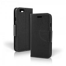 Samsung galaxy note 3 atverčiamas dėklas smart fancy eko oda juodas
