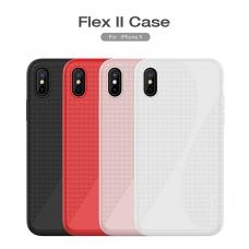 iphone x/xs dėklas nillkin flex 2 silikonas rožinis