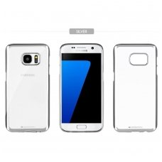 Samsung galaxy A7 2017 dėklas MERCURY JELLY RING 2 PERMATOMAS SIDABRO SPALVOS KRAŠTAIS