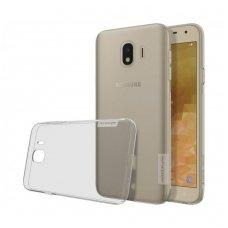 Samsung galaxy J4 2018 dėklas Nillkin Nature permatomas pilkas 0,6 mm TPU