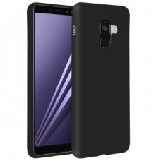 samsung galaxy a8 plus 2018 dėklas forcell soft case silikonas juodas