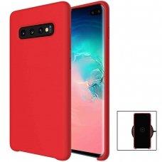 Akcija! Samsung galaxy s10e dėklas silicone cover silikonas raudonas