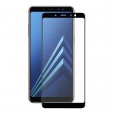 "Samsung galaxy A7 2018 grūdinto stiklo ekrano apsauga ""FULL GLUE"" H Pro 5D H9+ lenkta juodais kraštais"