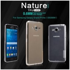 SAMSUNG GALAXY grand prime DĖKLAS NILLKIN NATURE 0.6MM TPU skaidrus