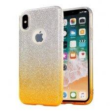 Huawei mate 10 lite dėklas glitter silikonas sidabrinis-auksinis