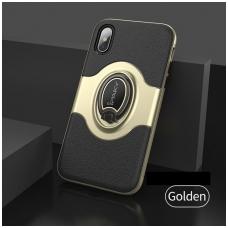 Iphone x/xs DĖKLAS IPAKY FEATHER TPU + PC PLASTIKAS auksinis
