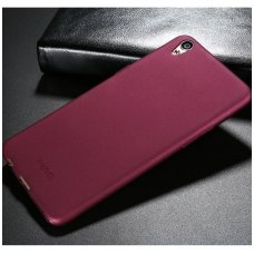 huawei y6 2017, y5 2017 DĖKLAS X-LEVEL GUARDIAN SILIKONINIS 0,6MM bordo