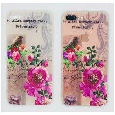 iphone x/xs DĖKLAS NUGARĖLĖ flowers 2 SILIKONAS