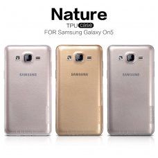SAMSUNG GALAXY on7 DĖKLAS NILLKIN NATURE 0.6MM TPU permatomas pilkas