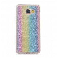 samsung galaxy s7 dėklas glitter silikonas rainbow