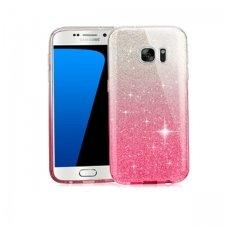 samsung galaxy s7 dėklas glitter silikonas sidabrinis rožinis