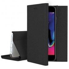 Huawei p20 atverčiamas dėklas bravo book pu oda juodas