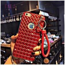 Iphone 7 plus / 8 plus dėklas 3d diamond silikonas raudonas