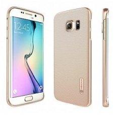 Samsung galaxy S6 dėklas Nillkin Frosted auksinės spalvos plastikas