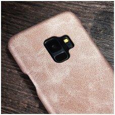 Samsung galaxy A6 Plus 2018 dėklas X-LEVEL VINTAGE eko oda auksinis