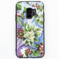 """Samsung Galaxy A6 2018 dėklas """"Flowers 10"""" TPU žalsvas"""