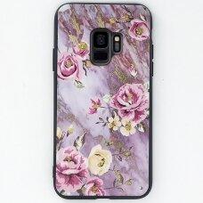 """Samsung Galaxy a6 2018 dėklas """"Flowers 12"""" TPU rausvas"""