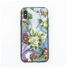 iphone x/xs dėklas flowers silikonas