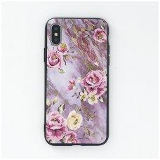 iphone xs max dėklas flowers silikonas violetinis