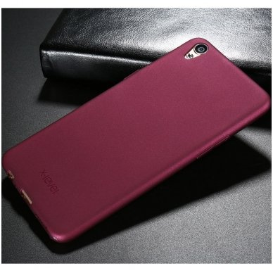 Huawei mate 20 x dėklas X-LEVEL GUARDIAN silikonas bordo