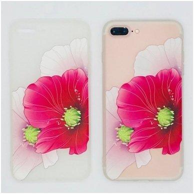 iphone 5/ 5S / SE DĖKLAS NUGARĖLĖ flowers 5 SILIKONAS