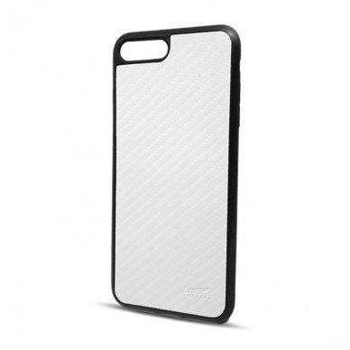 akcija! Iphone 6 / 6s dėklas beeyo carbon pc plastikas baltas