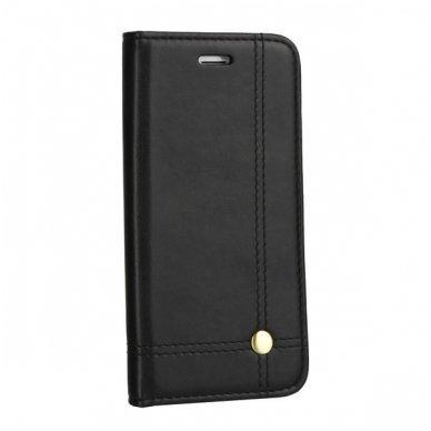 iphone xr atverčiamas dėklas prestige book oda juodas