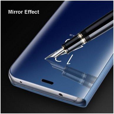 Samsung Galaxy a70 atverčiamas dėklas Clear View veidrodiniu-permatomu dangteliu mėlynas   5