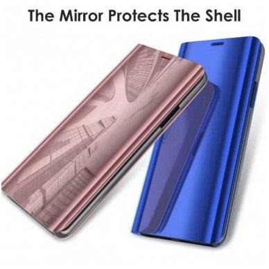 Samsung Galaxy a70 atverčiamas dėklas Clear View veidrodiniu-permatomu dangteliu mėlynas   3