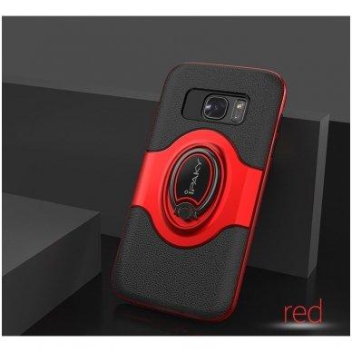 Samsung galaxy s8 plus dėklas Ipaky feather TPU + PC PLASTIKAS raudonas 5