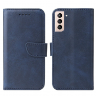 akcija! Samsung galaxy s21 atverčiamas dėklas Magnet Case elegant tamsiai mėlynas