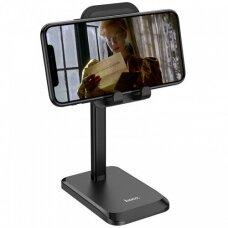 Hoco PH27 telefono laikiklis tvirtinamas prie stalo baltas