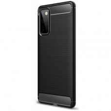 Akcija! Huawei P Smart 2021 Carbon Case Flexible Cover TPU juodas