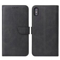 Akcija! Iphone x / xs dėklas Magnet Case elegant bookcase juodas