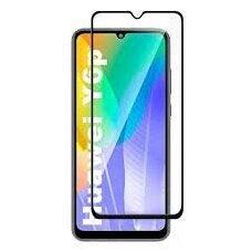 Akcija! Huawei Y6P lenktas grūdintas apsauginis stiklas Wozinsky FULL GLUE juodais kraštais