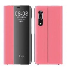 akcija! Huawei P30 atverčiamas dėklas Sleep case rožinis