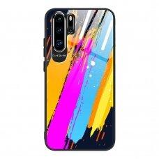 Akcija! Huawei P30 pro Dėklas Color Glass pattern 3