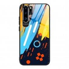 Akcija! Huawei P30 pro Dėklas Color Glass pattern 1