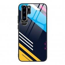 Akcija! Huawei P30 pro Dėklas Color Glass pattern 2