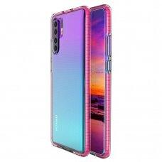 Akcija! Huawei P30 pro dėklas Spring Case  TPU  skaidrus rožinis
