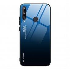 Akcija! Huawei P40 Lite E nugarėlė Gradient Glass mėlynas-juodas