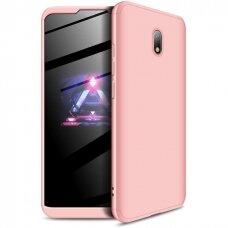 Akcija! xiaomi redmi 8a HURTEL dėklas dvipusis 360 plastikas rožinis