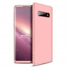 Akcija! Samsung Galaxy S10 HURTEL dėklas dvipusis 360 plastikas rožinis