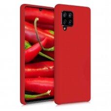 """akcija! Samsung Galaxy A22 5G dėklas SILIKONINIS LANKSTUS DĖKLAS """"FLEXIBLE RUBBER COVER"""" raudonas"""
